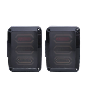 TAIL LIGHTS - HEX SMOKED LED replacement for Wrangler JK/JKU (pair)