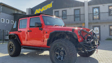 Load and play video in Gallery viewer, MyTop Power Soft-Top 'Fastback' Black 4dr for Wrangler JKU (Fully Fitted)