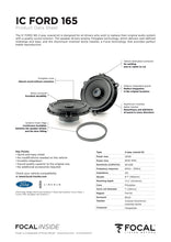Load image into Gallery viewer, Focal IC FORD 165 2-Way Coaxial Speaker Upgrade Kit for Ford