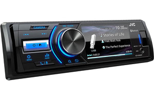 JVC KD-X560BT Marine Rated Digital Receiver (1 DIN) 3-Inch Monitor and Bluetooth®