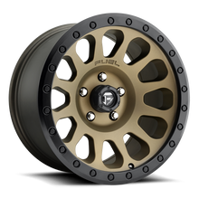 "Load image into Gallery viewer, FUEL OFFROAD 'VECTOR' 17"" D600- Matte Bronze - Black Ring 17/9 Rims (set of 5 Jeep 5x127 - 12) JK"