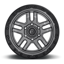 "Load image into Gallery viewer, FUEL OFFROAD 'AMMO' 17"" D701 - Matte Anthracite with Black Ring 17/9 Rims (set of 5 Jeep 5x127 -12)"