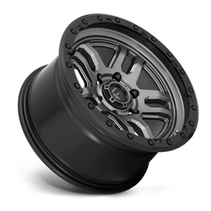"FUEL OFFROAD 'AMMO' 17"" D701 - Matte Anthracite with Black Ring 17/9 Rims (set of 5 Jeep 5x127 -12)"