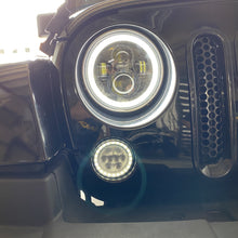 Load image into Gallery viewer, Headlights LED DRL Halo 'Clone' for JK/JKU/TJ (pair)