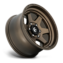 "Load image into Gallery viewer, FUEL OFFROAD 'Shok' 17"" D666 - Matte Bronze 17/10 Rims (set of 5 Jeep 5x127 -18)"