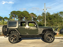 "Load image into Gallery viewer, FUEL OFFROAD 'Beast' 20"" D564 (PRE-ORDER TO SECURE) - Black/Dark 20"" Rims (set of 5 Jeep 5x127)"