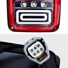 Load image into Gallery viewer, TAIL LIGHTS - RED SWIRL LED replacement for Wrangler JK/JKU (pair)