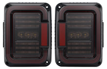 Load image into Gallery viewer, TAIL LIGHTS - CEE 'C' SMOKE LED replacement for Wrangler JK/JKU (pair)