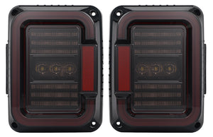 TAIL LIGHTS - CEE 'C' SMOKE LED replacement for Wrangler JK/JKU (pair)