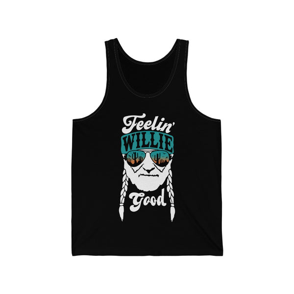 Feelin Willie Good Unisex Jersey Tank (Printed in Canada)