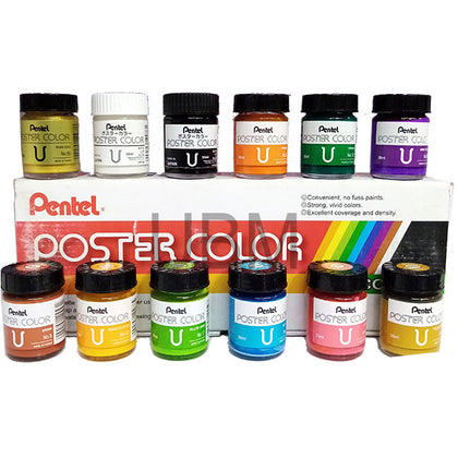 Poster Color 12Pcs Set- Pentel