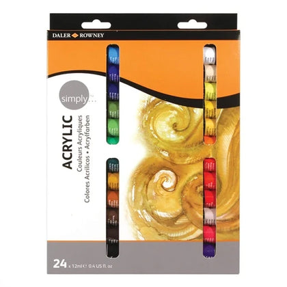Daler Rowney Acrylic Colour 24 Pcs