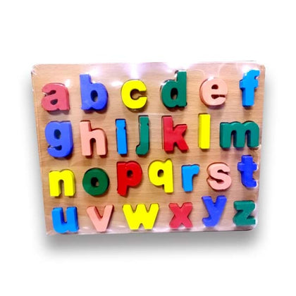 Wooden Toy Emboss Small Alphabets #108 (711)