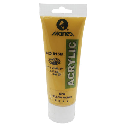 Maries Acrylic Tube 676 Yellow Ochre