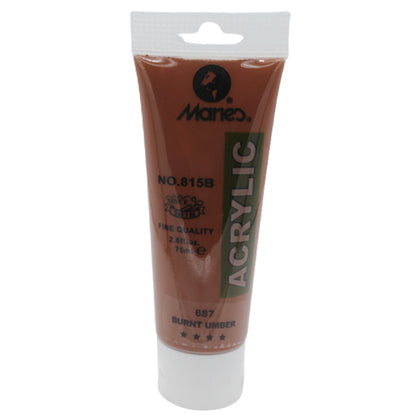 Maries Acrylic Tube 687 Burnt Umber