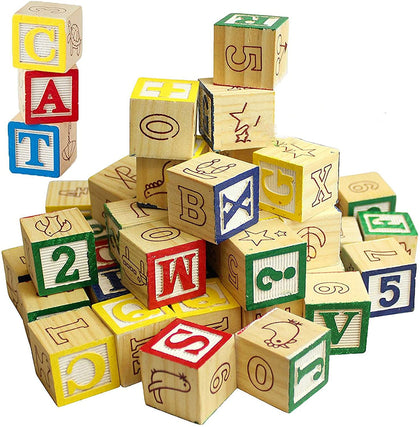 Wooden Toy Abc Blocks (27 Pcs) # 180