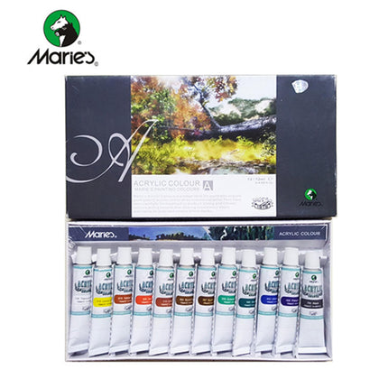 Maries Acrylic Colour Set 12Pcs