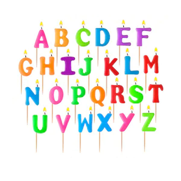 Birthday Alphabets Candle