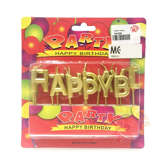 Birthday Alphabets Candle Golden/Silver