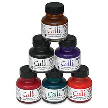 Daler Rowney Calligraphy Water Proof Inks 30 ml Bottle.