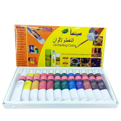 Sensa Oil Colour Tube Set 12 Pcs