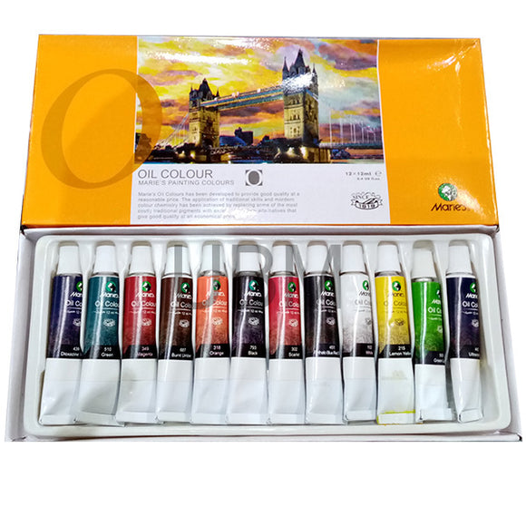 Maries Oil Color Set 12Pcs (1386)