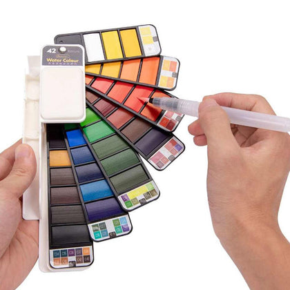 Foldable watercolor paint Set of 42 colors