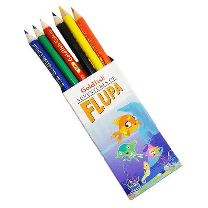Goldfish Colour Pencil 6Pcs Half Size Dabbi