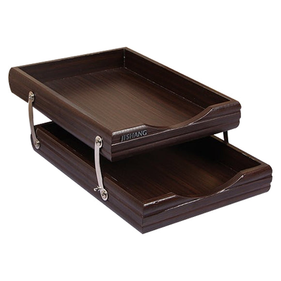 Letter Tray Wooden 2 Story 7722 - Brown