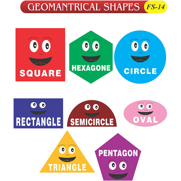 Geomantrical Shapes Fs-14 Colored