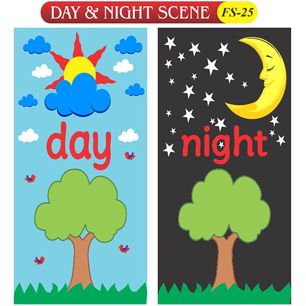 Day & Nights Scene Fs-25 Coloured