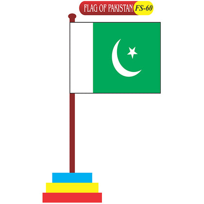 Flag Of Pakistan Fs-60 Coloured