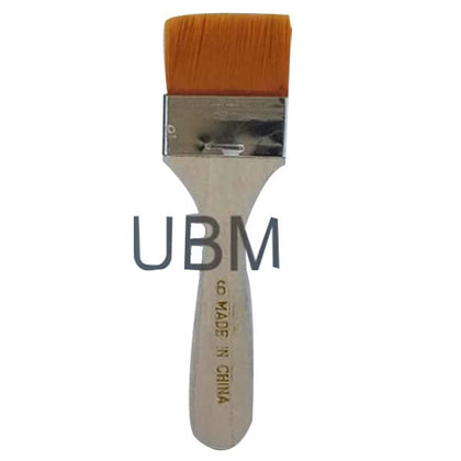 Paint Brush Flat Wide # 6 Wooden