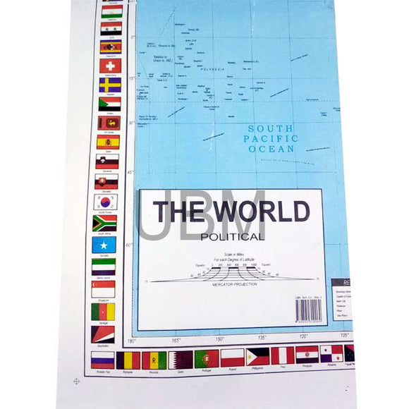 Map Paper World English