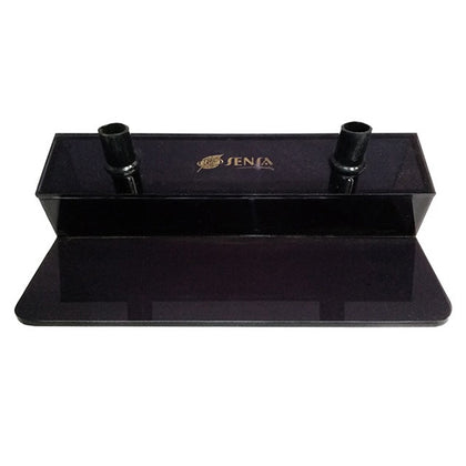 Pen Holder Metal  (Plastic Slope) Transparent