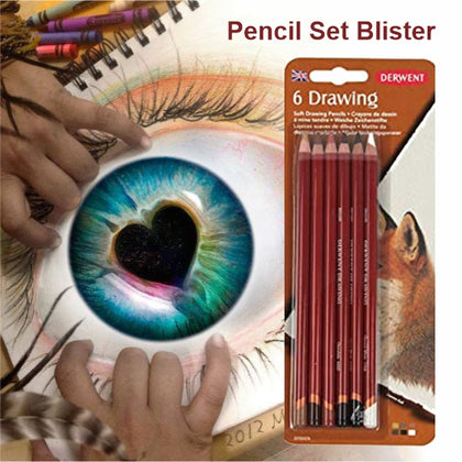 Drawing Pencil Set Blister  6 pcs-Derwent (0700476)