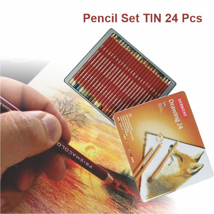 Drawing Pencil Set TIN 24 pcs-Derwent (0700672)