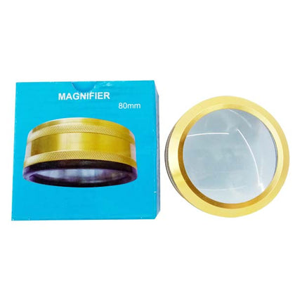Magnifying glass double 80 MM Golden