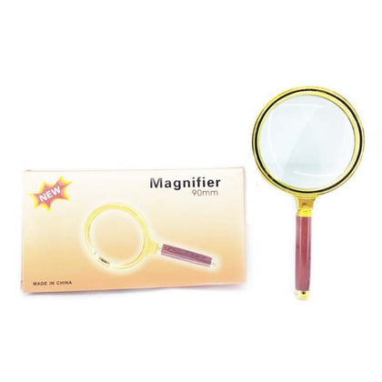 Magnifying Glass Golden & Brown 90mm