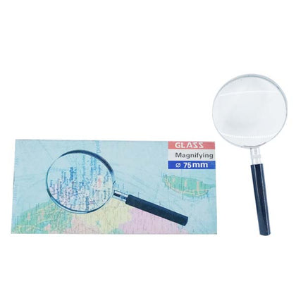 Magnifying Glass Silver& Black 75MM