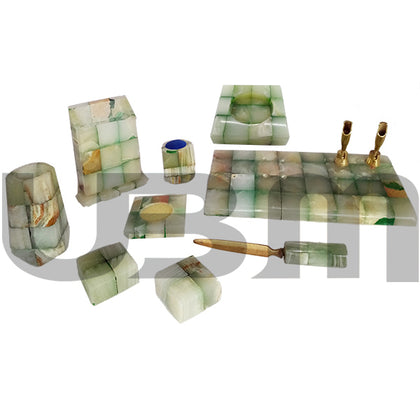 Table Set Marble Tukri 9 Pcs