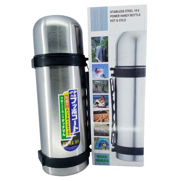 Water Bottle Steel Large With Handle18-8