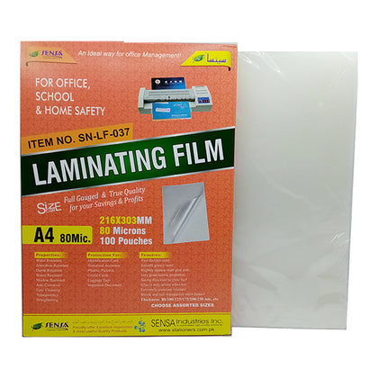 Sensa Lamination Sheet A4 (80Mic)