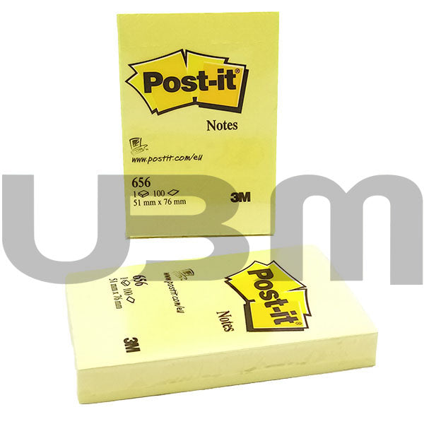Post-it Pad Yellow 3M 2X3