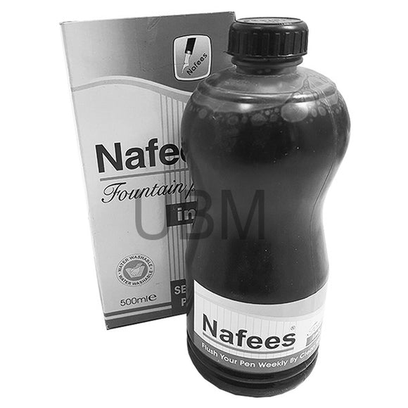 Nafees Fountain Pen Ink 500ML Black