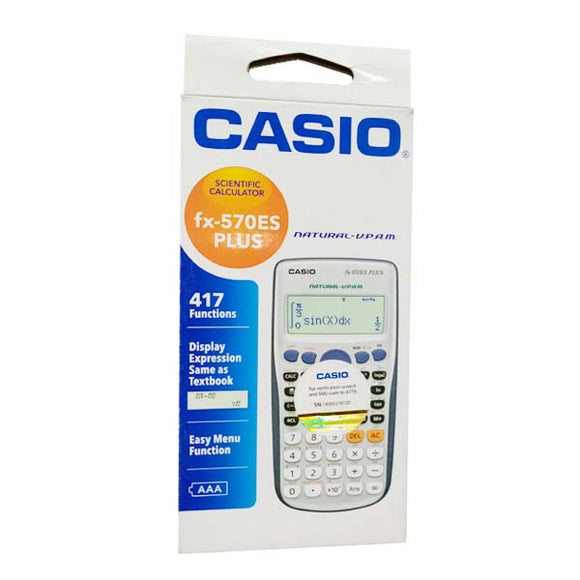 Casio Calculator 570 ES Original Black/Silver