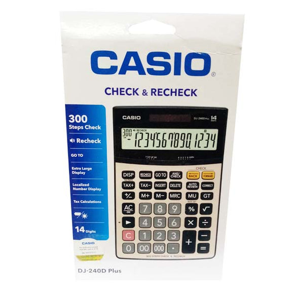 Casio Calculator DJ 240 Plus Original Black Silver