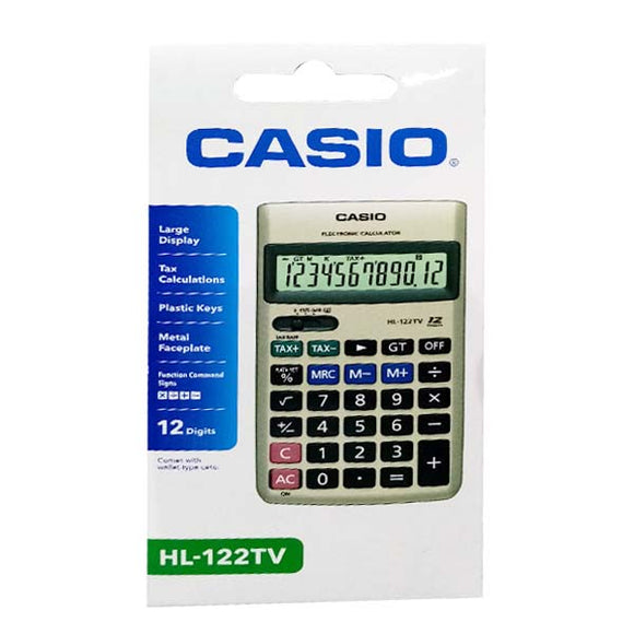 Casio Calculator Hl 122 TV Original Black/Silver
