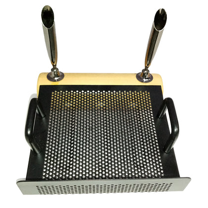 Pen Holder  Wood/metal mesh