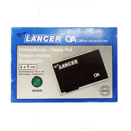 Stamp Pad Small 6X9 Green Lancer